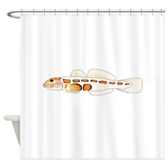 Orangesided Goby Shower Curtain