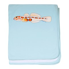 Orangesided Goby c baby blanket