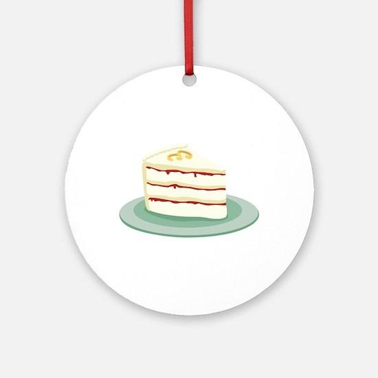Wedding Cake Slice Ornament (Round)