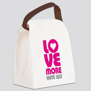 Love More Hate Less Canvas Lunch Bag