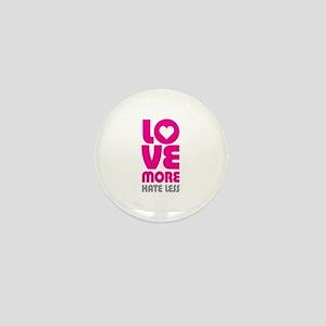Love More Hate Less Mini Button