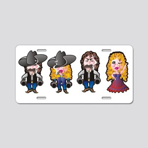 Cowboys and Cowgirls Aluminum License Plate