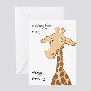 Cute Giraffe Card Greeting Cards