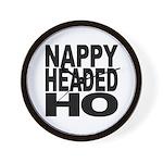 Nappy Headed Ho Original Design Wall Clock