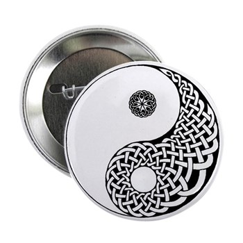 "Celtic Yin & Yang 2.25"" Button (10 pack)"