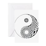 Celtic Yin & Yang Greeting Cards (Pk of 10)