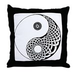 Celtic Yin & Yang Throw Pillow