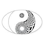 Celtic Yin & Yang Oval Sticker