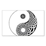 Celtic Yin & Yang Rectangle Sticker
