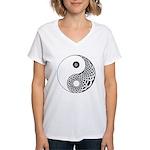 Celtic Yin & Yang Women's V-Neck T-Shirt