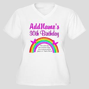 BEAUTIFUL 30TH Women's Plus Size V-Neck T-Shirt