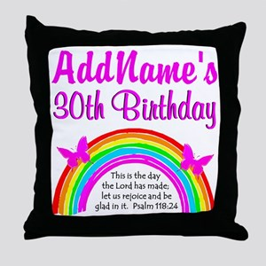 BEAUTIFUL 30TH Throw Pillow