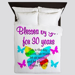 BLESSED 30TH Queen Duvet