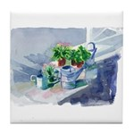 Watering Cans Tile Coaster