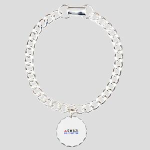 Swazi It Better Designs Charm Bracelet, One Charm