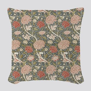 William Morris Cray Pattern Woven Throw Pillow