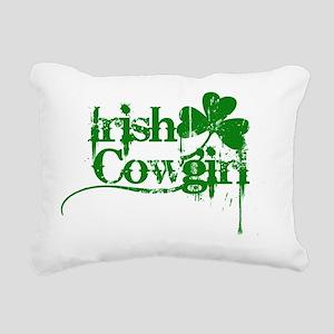 Irish Cowgirl  Rectangular Canvas Pillow