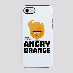 Angry Orange Guy Funny iPhone 7 Tough Case
