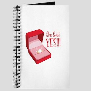 She Said YES!!! Journal