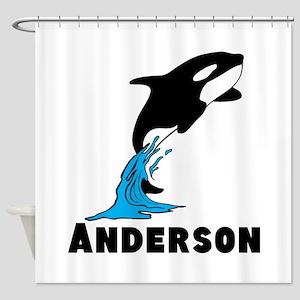 Killer Whale Orca Shower Curtain