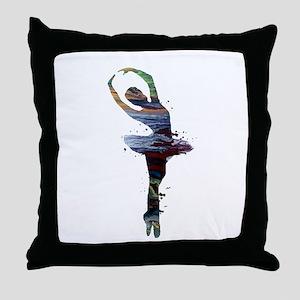 Ballet dancer Throw Pillow
