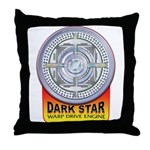 DarkStar WarpDrive Engine Throw Pillow