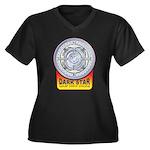 DarkStar Women's Plus Size V-Neck Dark T-Shirt