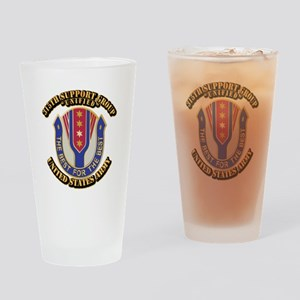 DUI - 315th Support Group With Text Drinking Glass