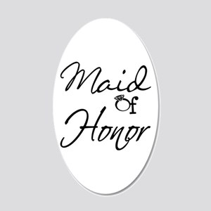 Maid of Honor 20x12 Oval Wall Decal