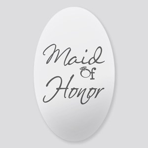 Maid of Honor Sticker (Oval)