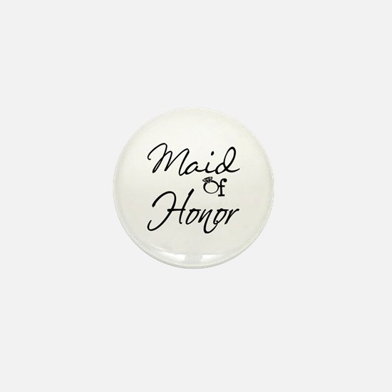 Maid of Honor Mini Button