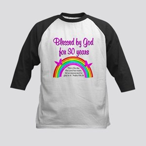 BLESSED 30TH Kids Baseball Jersey