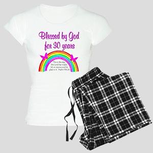 BLESSED 30TH Women's Light Pajamas