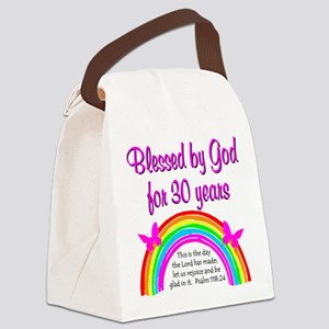 BLESSED 30TH Canvas Lunch Bag