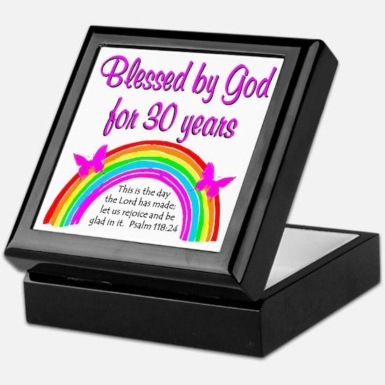 BLESSED 30TH Keepsake Box