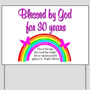 BLESSED 30TH Yard Sign