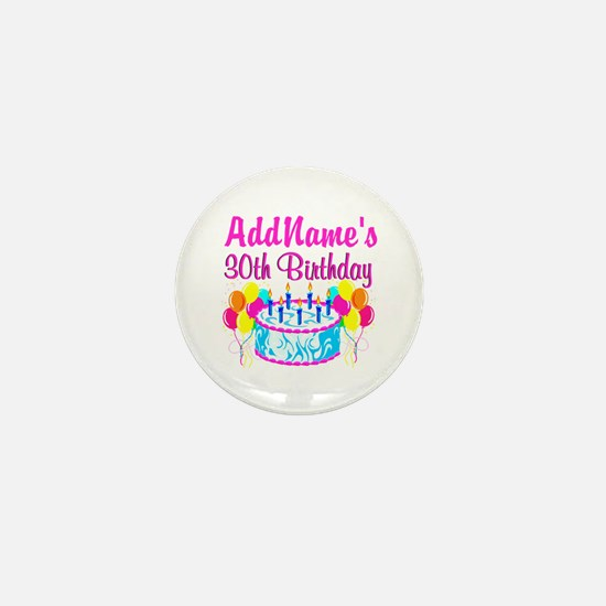 FABULOUS 30TH Mini Button