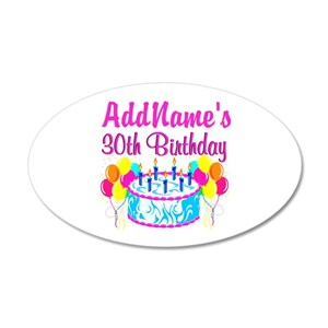 30th Birthday Wall Decals