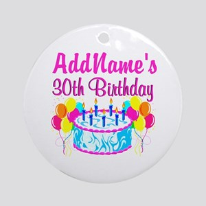 FABULOUS 30TH Ornament (Round)