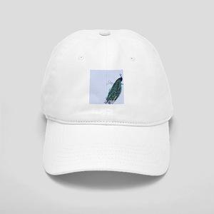 Pastel blue peacock Cap