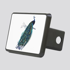 Vintage peacock Rectangular Hitch Cover
