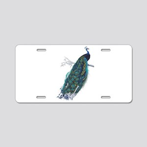 Vintage peacock Aluminum License Plate