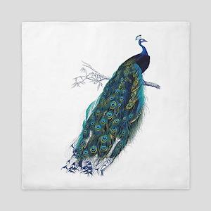 Vintage peacock Queen Duvet