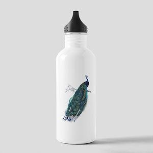 Vintage peacock Sports Water Bottle