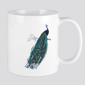 Vintage peacock Mugs