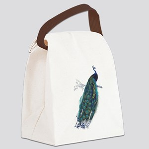 Vintage peacock Canvas Lunch Bag