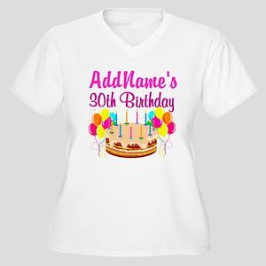 FABULOUS 30TH Women's Plus Size V-Neck T-Shirt