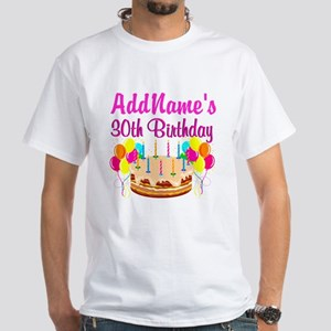 FABULOUS 30TH White T-Shirt