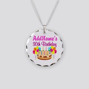 FABULOUS 30TH Necklace Circle Charm