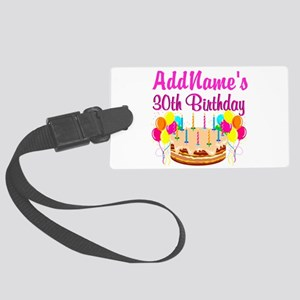 FABULOUS 30TH Large Luggage Tag